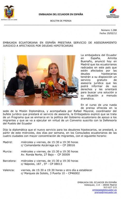 Asesoria para ecuatorianos Deuda Hipotecaria