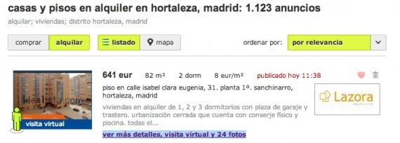 Busco piso en Madrid. A donde NO debo acudir