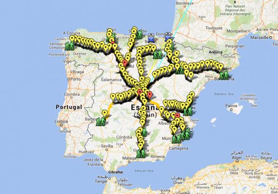 Mapa Marchas 22M